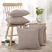 Deconovo Faux Linen Cushion Covers 45x45cm,40x40cm