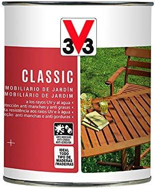 ACEITE DE TECA MUEBLES JARDÍN V33 INCOLORO: Amazon.es: Bricolaje y herramientas