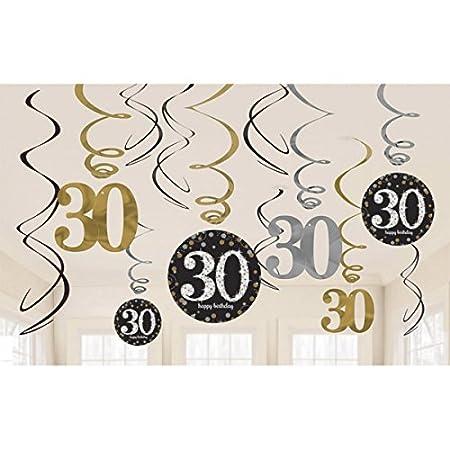 18 Geburtstag Dekoration Deko-Set Sparkling Gold Silber Happy Birthday Partykette Girlande Konfetti Achtzehn Jahre