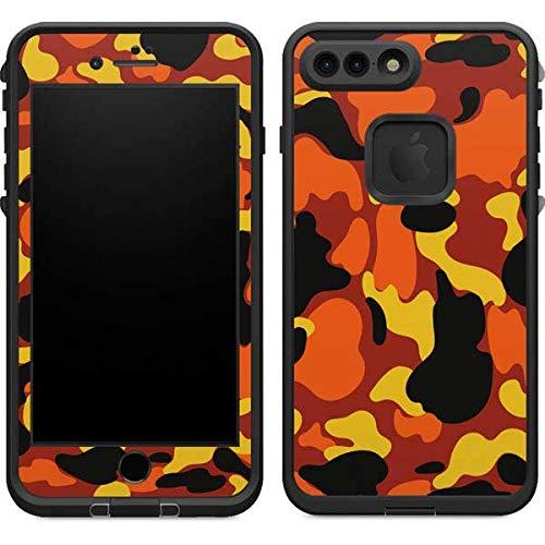 new concept 59042 d1e40 Amazon.com: Skinit Orange Camo LifeProof Fre iPhone 7 Plus Skin ...