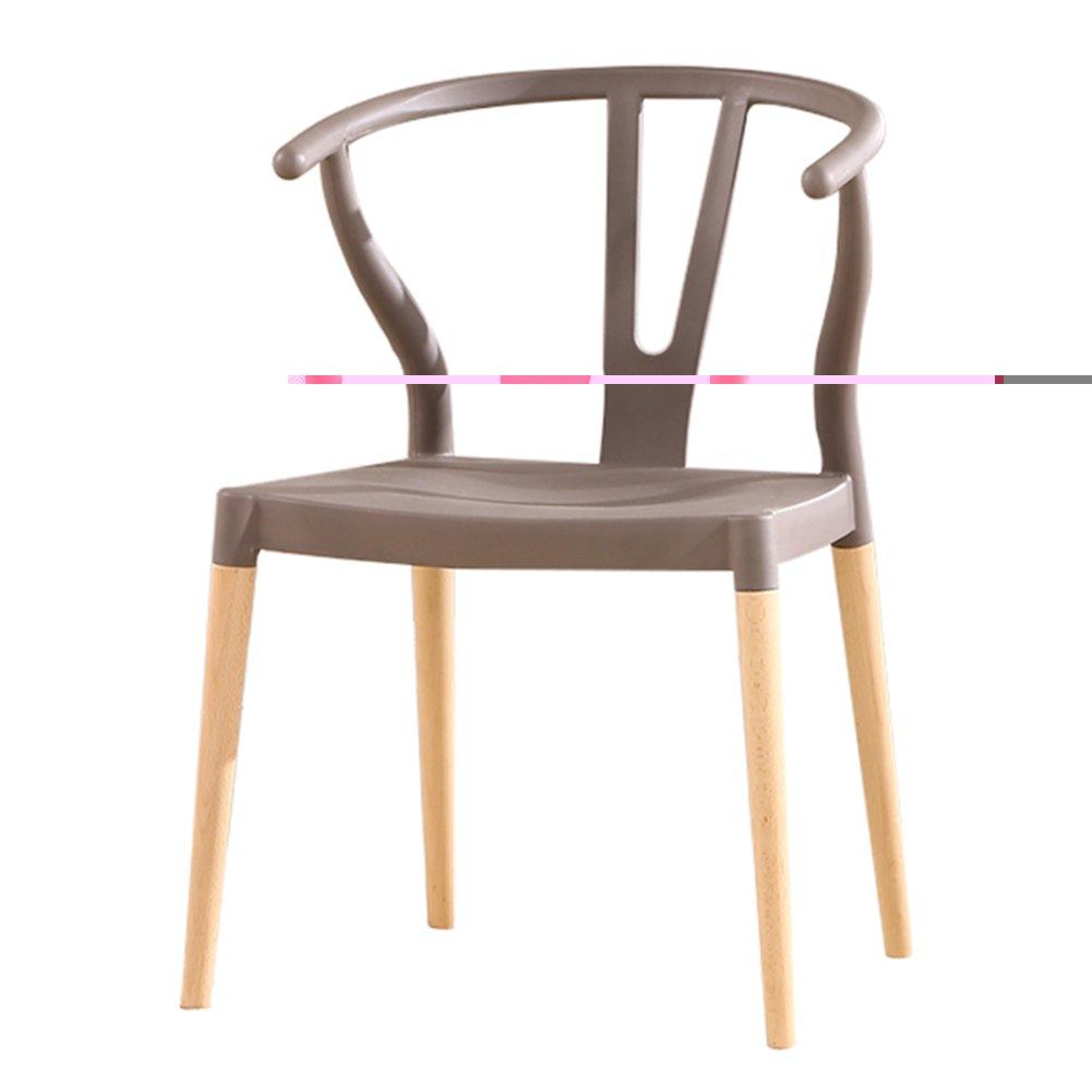 ZEMIN ダイニングチェア椅子の木の木製折り畳み チェアソファシートスツールテーブルバックレストポータブルクリエイティブ美しいソリッドウッドレッグ、7色、55x44x78CM ( 色 : グレー ) B0797P1D61 グレー グレー
