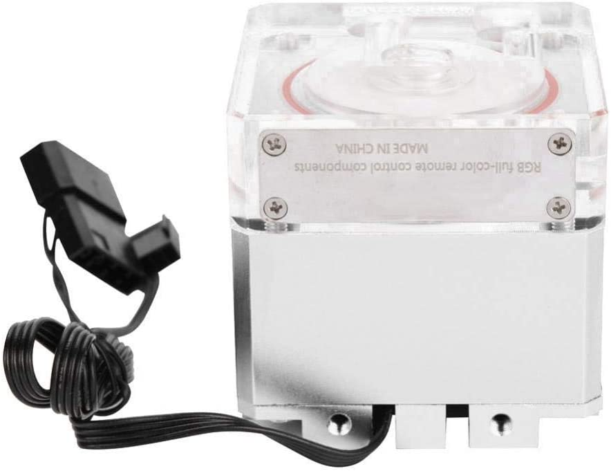 Tosuny 7V 8W CPU Water Cooling Pump 3000RPM Fast Heat Dissipation Computer Pump 800L//H Flow 3.5 Meters Pump Head PC Pump Tank for Desktop Computer Cool System Black