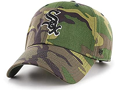 '47 Authentic Chicago White Sox MLB Woodland Camo Clean Up Strap Back Cap Hat