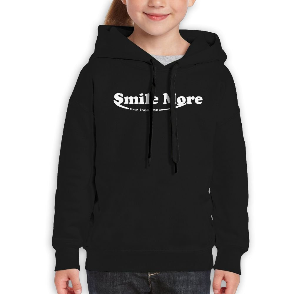Addie E. Neff Pullover Roman Atwood Smile More Half Boys,Girls,Youth Fashion Sweatshirt Pocket Hoodie M Black