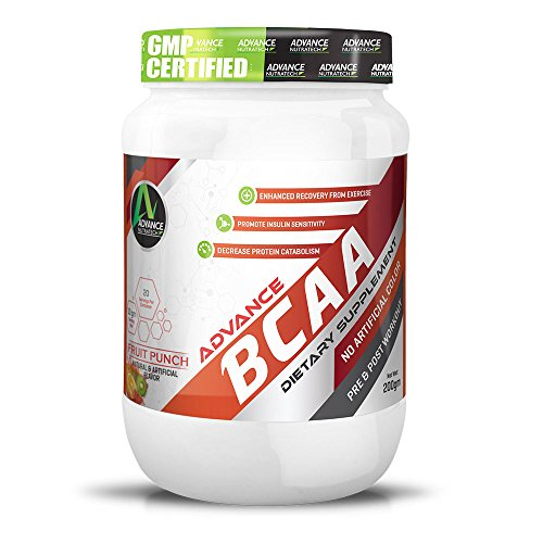 BCAA 2:1:1 200gm 0.44lb Fruit Punch Amino by ADVANCE NUTRATECH