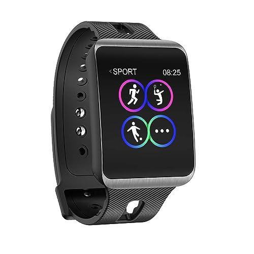 Reloj Inteligente,Hombres Mujeres Reloj Inteligente Deportes Fitness Salud Actividad Monitor de Ritmo cardíaco Presión