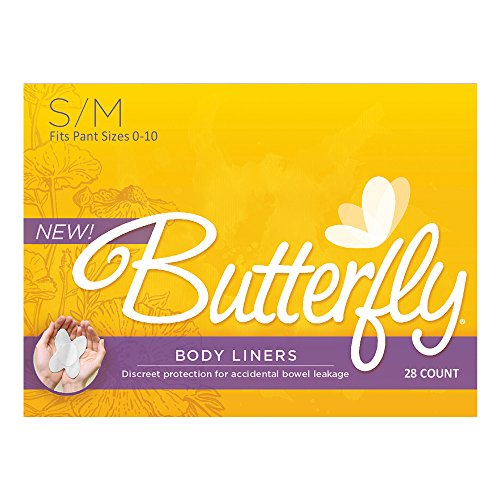 Butterfly® Pads / Body Liners for Bowel Leaks - Women's S/M 28 - Butterfly Womens