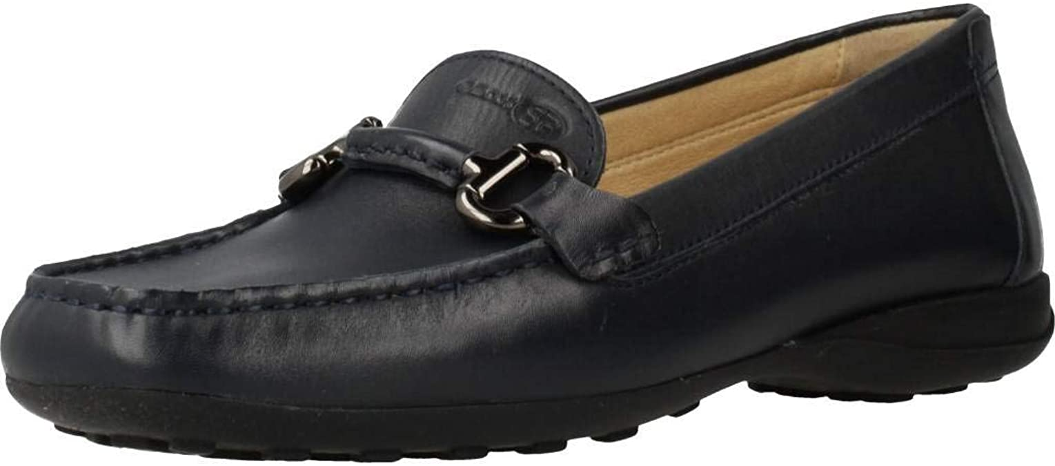Apellido Optimista plato  Amazon.com | Geox Women's Woman Euxo 4 Leather Loafer with Bit  Embellishment, Navy, Driving Style | Loafers & Slip-Ons
