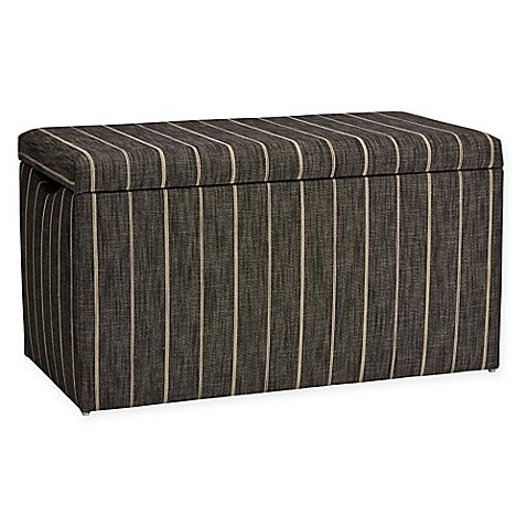 (Skyline Furniture Skylar Storage Bench in Fritz Peppercorn)