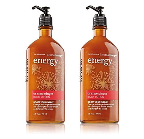 Aromatherapy Moisturizing Body Lotion (Bath and Body Works Aromatherapy Body Lotion Energy - Orange Ginger 6.5 oz (Pack of 2))