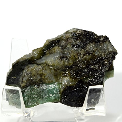 125 Carat Emerald Rough in Rock Green Natural Crystal Mineral Cab Stone for Cabbing - Brazil