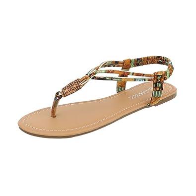Ital Design Zehentrenner Damenschuhe Blockabsatz Sandalen  Sandaletten