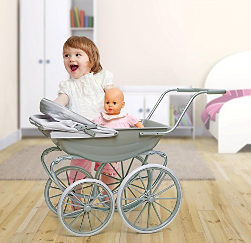 Badger Basket London Doll Pram ,fits American Girl Dolls, Gray by Badger Basket (Image #2)