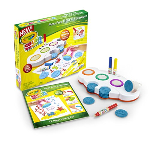 Crayola Color Wonder Mess Free Light-Up Stamper, Gift for Kids, Ages 3, 4, 5, 6 (Light Crayola Desk)