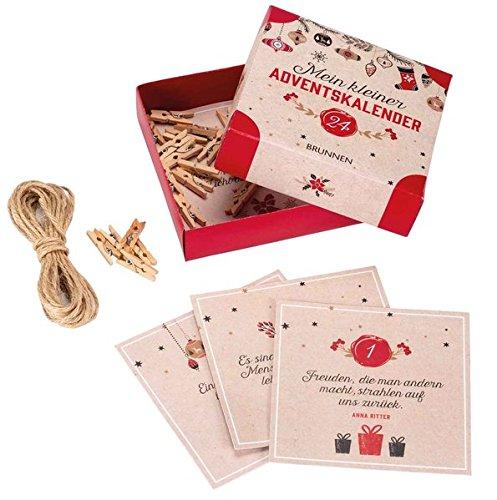 Kleiner Weihnachtskalender.Mein Kleiner Adventskalender Box Mit 24 Adventsgrüßen