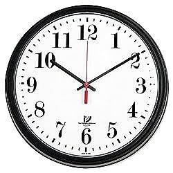13-3/4 Black Quartz CONTRACT Wall Clock