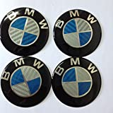4pcs Carbon Fiber Emblem Badge Logo Wheel Center Hubs Caps Sticker Adhesive for bmw