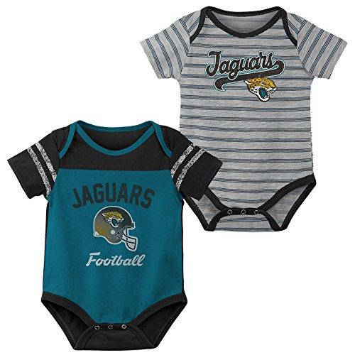Jacksonville Jags Apparel - NFL by Outerstuff NFL Jacksonville Jaguars Newborn & Infant Dual-Action 2 Piece Bodysuit Set Jag Teal, 0-3 Months