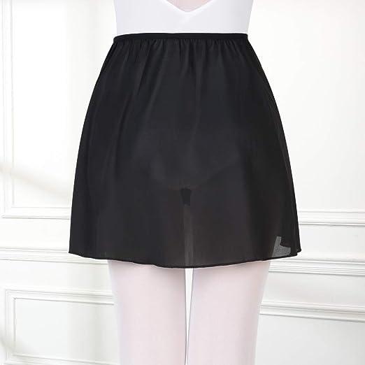 Bezioner Girls Ballet//Dance Wrap Skirt Chiffon Pull on Ballet Skirt Elastic Waist Women
