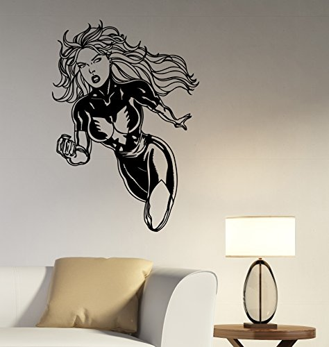 Dark Phoenix Wall Sticker Removable Vinyl Decal Marvel Comics Superhero Girl Art Decorations for Home Living Room Bedroom Office Decor Ideas (Female X Men Characters)