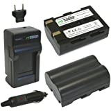 Wasabi Power Battery (2-Pack) and Charger for Sigma BP-21 and Sigma SD1, SD1 Merrill, SD14, SD15