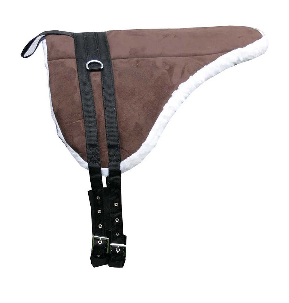 Shetland Pony Saddle Set with Girth Reitkissen Reitpad Reitunterlage for Holzpferde / Bareback baumlos Pad