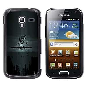 Oscuro Árbol de Goth - Metal de aluminio y de plástico duro Caja del teléfono - Negro - Samsung Galaxy Ace 2