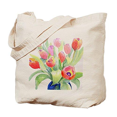 Bolso de totalizador de CafePress - bolso de mano de tulipanes