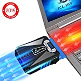 Klim Cool Laptop Cooler Fan - Innovative Portable Cooling Design with Display - External Gaming Cooler - High Performance Ventilation - USB Connection - Cooling Pad - Quiet Air Vaccum - Reduce Heat