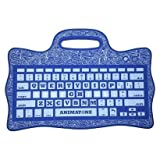 iFrogz Animatone Bluetooth Keyboard for Kids Connects to Android iOS Windows Devices