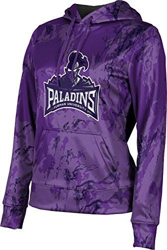 - Furman University Women's Pullover Hoodie, School Spirit Sweatshirt (Marble) FCDC1 Royal Purple and Gray