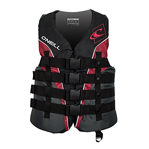 O'Neill  Men's Superlite USCG Life Vest, Black/Graphite/Red/White,Large