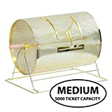 """Raffle Drum Medium Size Brass, Barrel Tumbler Size 16"""" X 12"""" Holds up to 5000 Raffle Tickets Or Ballot Draw Ticket by Carnival Canada"""