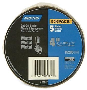Norton 3987 4-Inch x .040 x 5/8-Inch Cut Off Wheel (Pack of 5)
