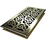 Decor Grates SPH614-NKL Scroll Floor Register, 6-Inch by 14-Inch, Nickel by Decor Grates