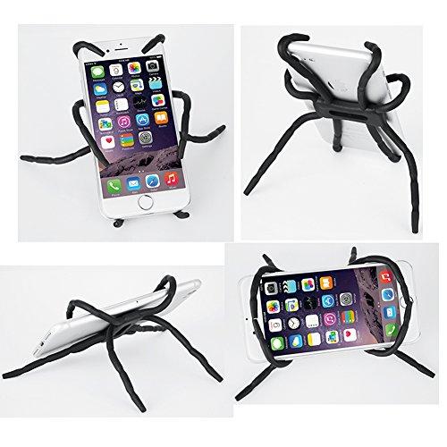 Whellen Universal Multi-Function Portable Spider Flexible Grip Holder for iPhone XS/XR/6s/7/8 Plus, Samsung Galaxy S8/S9/Edge/Plus