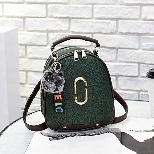 Gaoqiangfeng Fashionladies nero Casual a a Daily Borsa 18x10x20cm Green Backpack tracolla fEYq4x6