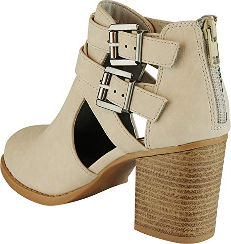 Pictures of Cambridge Select Women's Side Cut Out Light Taupe Nbpu 6