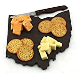 ohio cheese - Custom Ohio Slate Cutting Board, Serving Tray, or Cheese Board- Personalized with Laser Engraving