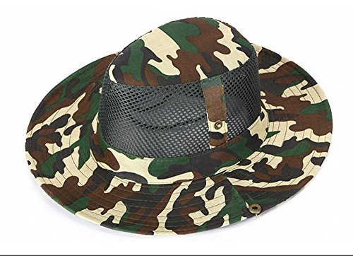 b56760fca16 Mcolics Boonie Bucket Hat Military Fishing Camping Hunting Wide Brim Bucket  Men Outdoor Sun-shading