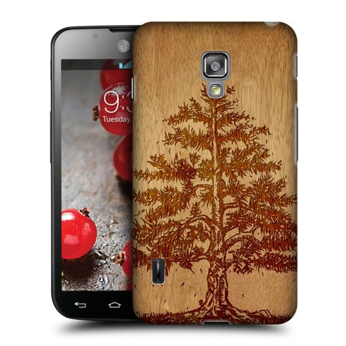 Head Case Designs Tree Wood Art Protective Snap-on Hard Back Case Cover for LG Optimus L7 II Dual P715