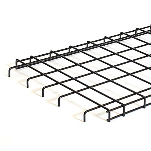 KC Store Fixtures A04917 Straight Grid Shelf, 48W x 18D with Downturn Edge, Black (Pack of 6)