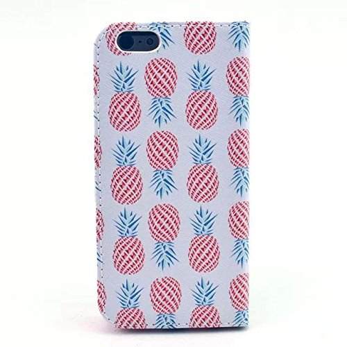 Monkey Cases® iPhone 6 Plus 5,5 Zoll - Flip Case - ANANAS - cover - Matt - Premium - original - neu - Tasche - pineapple #2