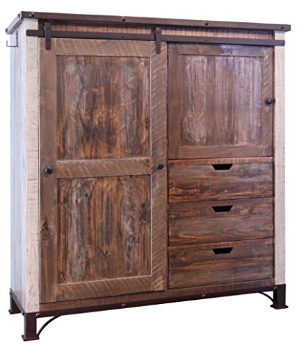 Bayshore Rustic Farmhouse-Style Armoire Gentleman's Chest by Crafters and Weavers