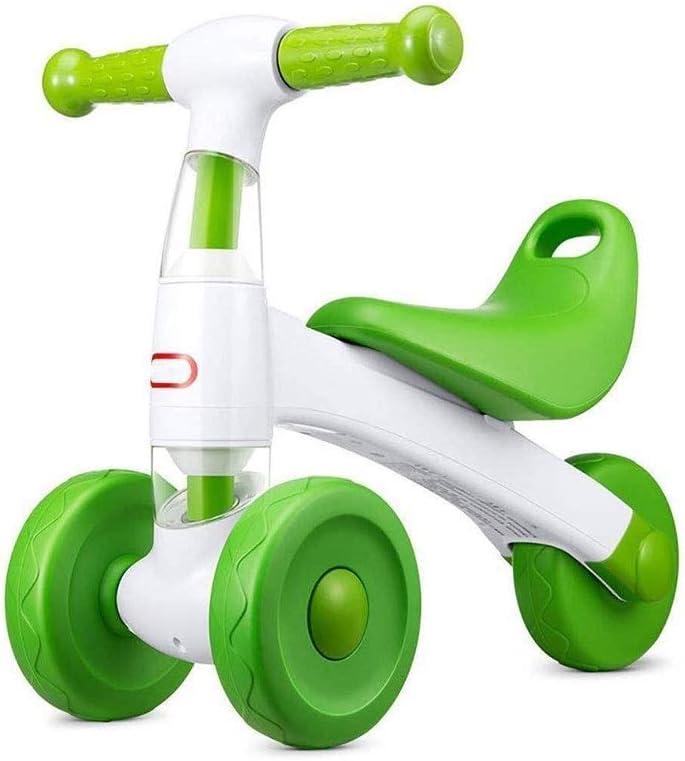 SMLZV Bicicleta de Equilibrio for niños - Bicicleta Perfecta del Regalo de cumpleaños, Apto for Fuerza y el Equilibrio de la Pierna del bebé de los años 3-6 Montar Ejercicio niños (Color : Green)