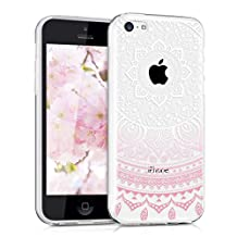 kwmobile Crystal TPU Silicone Case for Apple iPhone 5C in Design Indian sun light pink white transparent