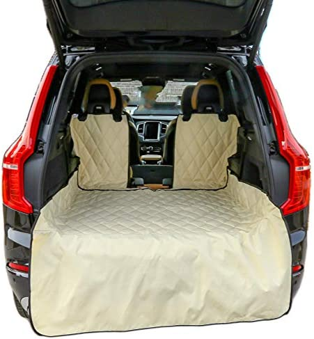 Plush Paws Refined Cargo Liner for Dogs – Tan, Waterproof Nonslip Silicone Backing for Trucks Suv s