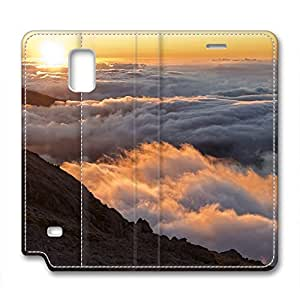 Sea of Clouds Design Leather Case for Samsung Note 4 Clouds Began to Bank Up