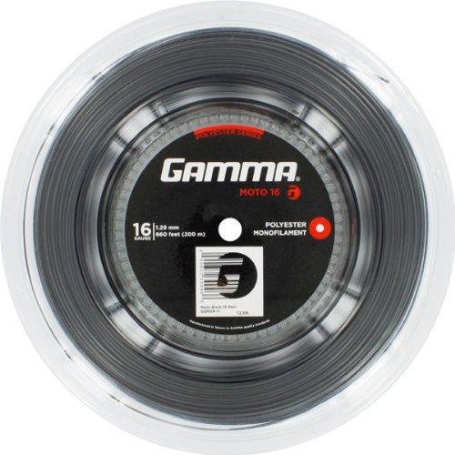 Gamma Sports Moto 16g Tennis String Reel, 660′, Black