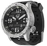 HAZARD 4 Heavy Water Diver(TM) BlackTie: Titanium Tritium Dive-Watch - GGYG